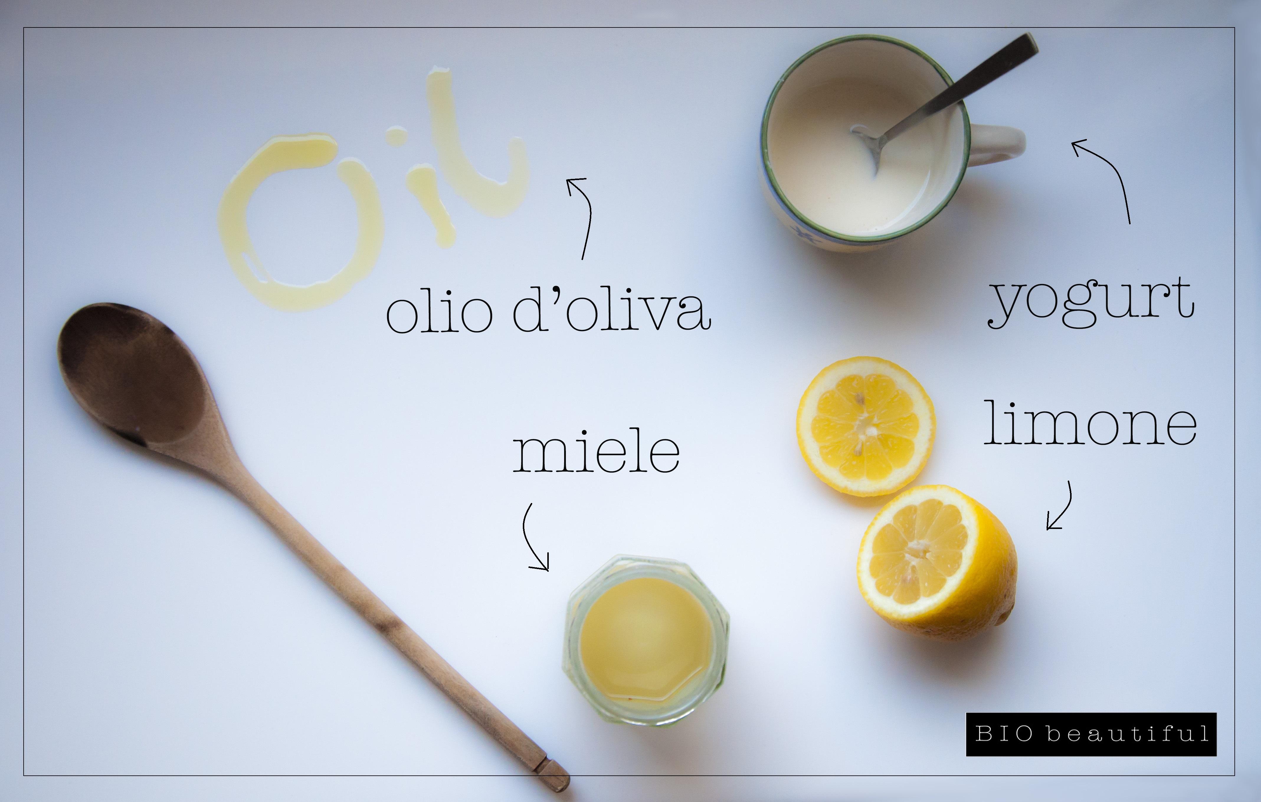 maschera facciale limone miele