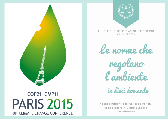 cop21 parigi Pillole diritto ambiente rubrica